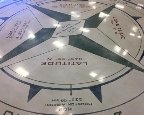 As the key piece for the airport's new education attraction, the compass rose exceeded everyone's expectations in all areas of craftsmanship.