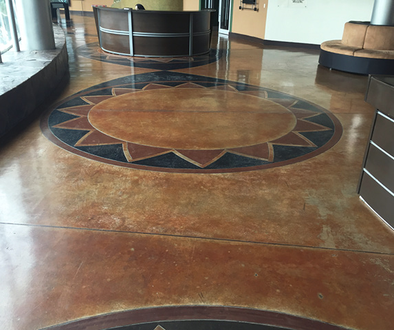Stained Concrete Grand Prize Winner Concrete by Hallack, Turlock, California