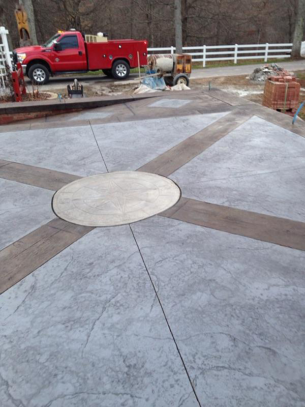Stamped Concrete - Second Runner-up Lindsey Concrete Construction, Solsberry, Indiana Patio project