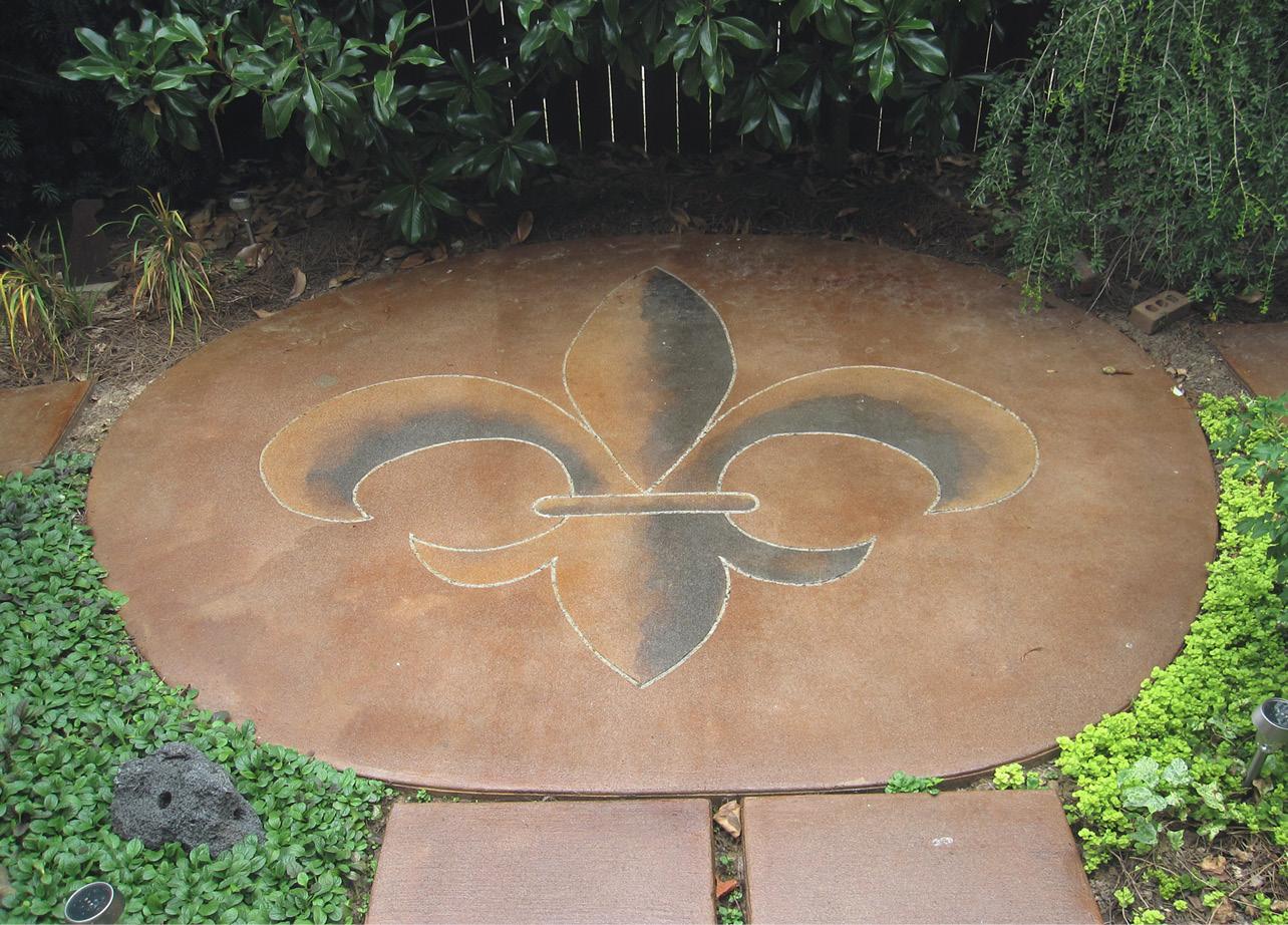 Concrete Portfolio With A Fleur De Lis