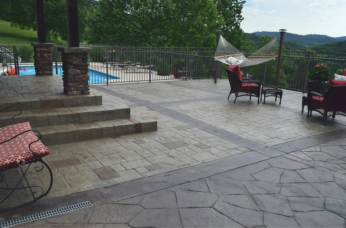 Outdoor Rooms can be separated with joints and different designs to distinguish the different spaces