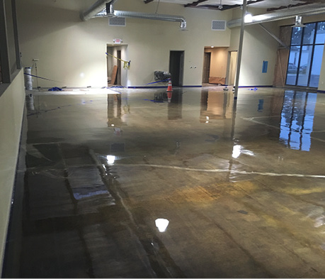 Kretus Top Shelf Epoxy MVR-FC (Moisture Vapor Reducer, Fast Cure) to comply with ASTM F3010, the standard practice for two-component resin-based membrane-forming moisture mitigation systems for use under resilient floor coverings