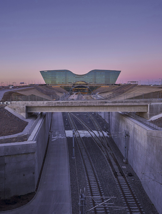 Years of planning, designing and construction went into the new Denver International Airport hotel and transit center.