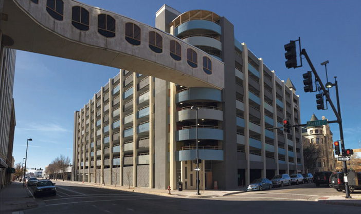 The Market Street Parking Garage in downtown Wichita was so deteriorated that the city had barricaded the entrances and condemned the structure for three years.