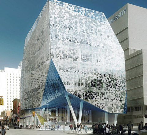 The eight-story Ryerson Student Learning Centre marks the university's new face in downtown Toronto and provides a gateway to its ever-expanding community.