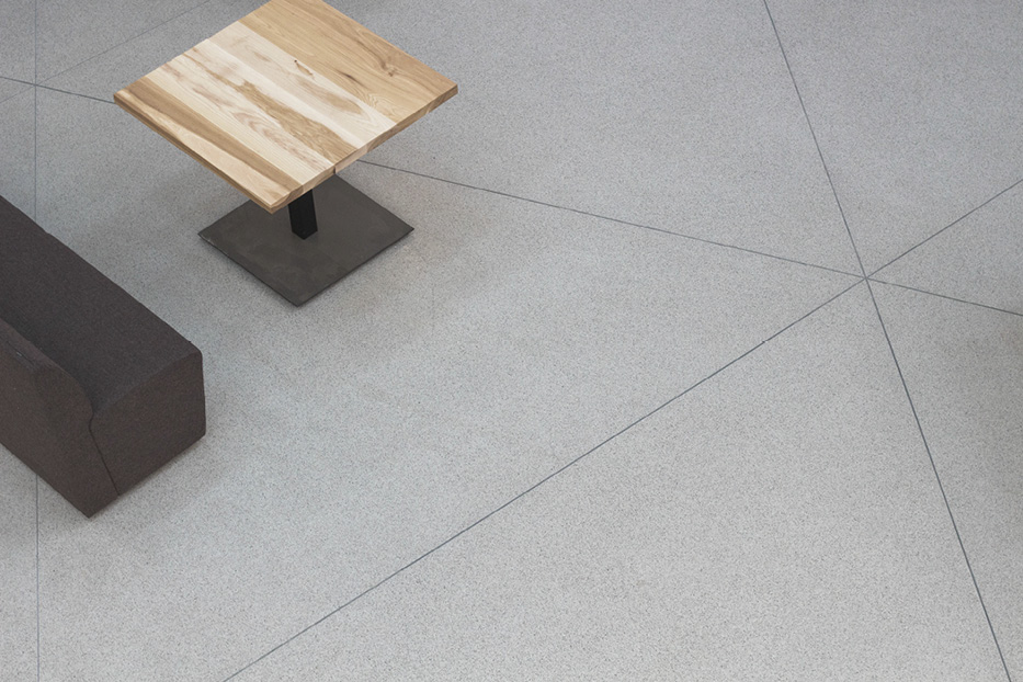 Originally designed for polished concrete, this project instead entailed using Aggretex to produce a consistent finished product.