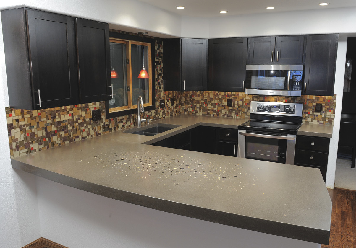 Concrete countertop by Greyrock Concrete Design in Colorado