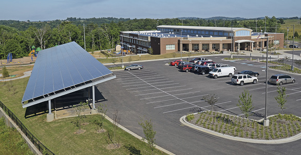 Richardsville Elementary in Bowling Green, Kentucky, was the first net-zero energy school in the United States.