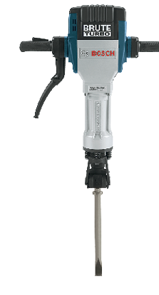 Bosch Brute Turbo Breaker Hammer with its GPS tracker that pinpoints its location 24/7.