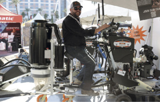 One vacuum system that got the crowds buzzing was attached to the CPS Rover, a ride-on grinder/polisher/burnisher introduced at the show last year by Concrete Polishing Systems.