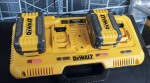 To better keep up with all the battery-powered tools, DeWalt introduced the 4-Port Fast Charger that can be used to recharge a wide variety of batteries, including four Flexvolt batteries in one hour.