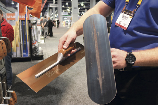 At the Kraft Tool booth, comfort was at the forefront of the company's tool line as it expanded its offerings in cork- handled tools to include edgers and groovers.