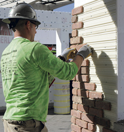 Speedymason mortar bed panel system offers a quick and easy method for contractors to install thin brick on a new or existing building's exterior or interior wall.
