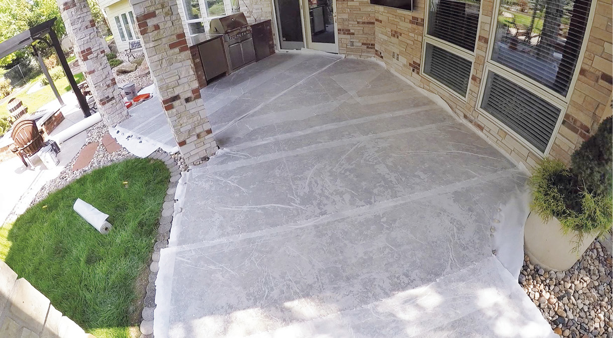 removing acrylic sealer from concrete in this existing outdoor patio