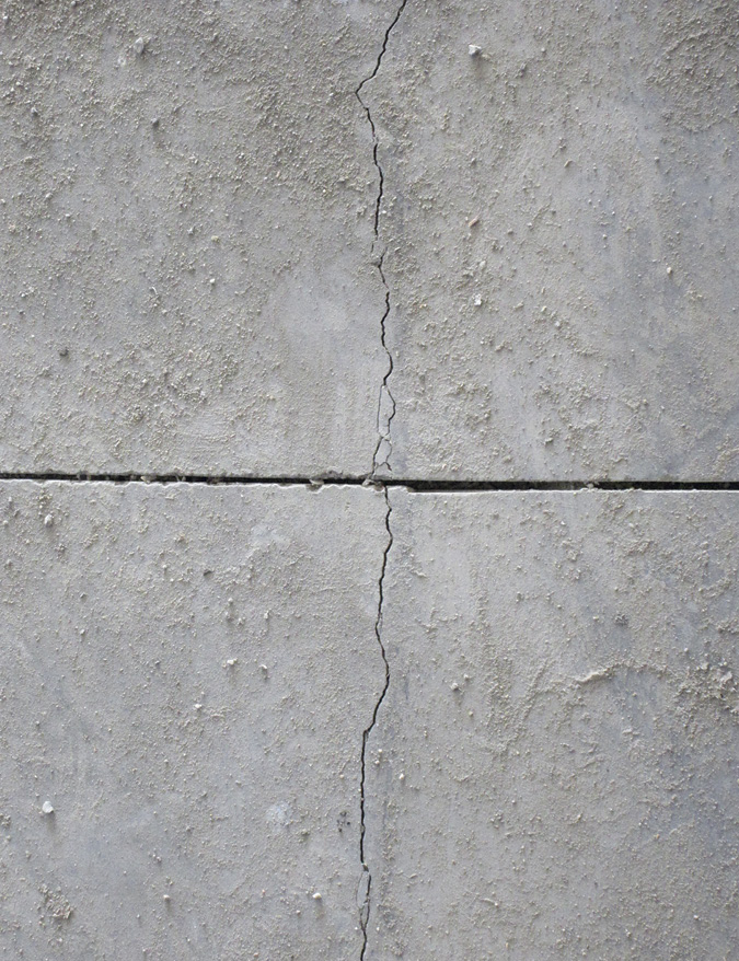 An example of structural cracking in concrete