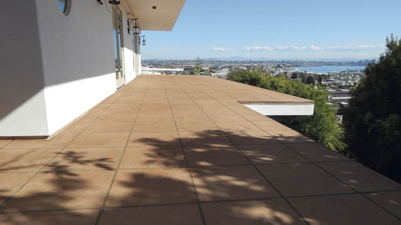 The transformation from exposed wood surfaces to waterproof concrete decking is a factor in the growth of the whole deck and patio market.