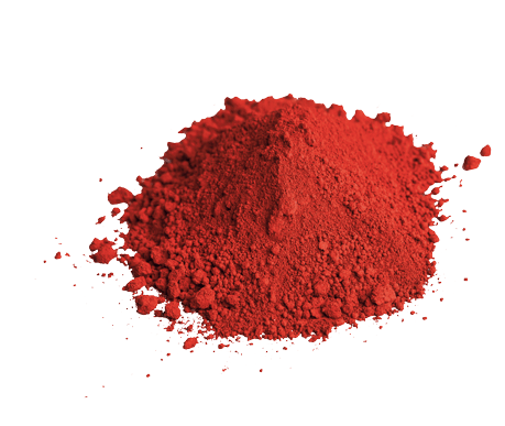Red pigment for integrally colored concrete