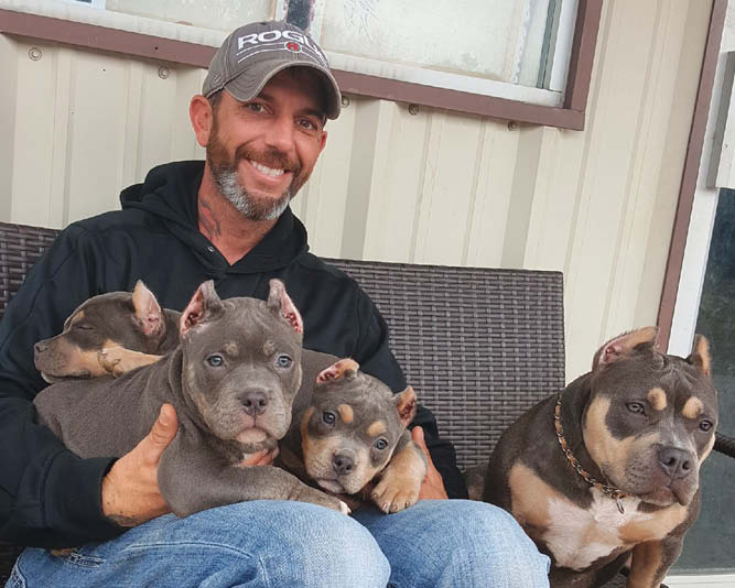 Bayliss and his dogs.
