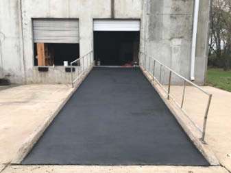 A look at the concrete ramp after the transformation has taken place.