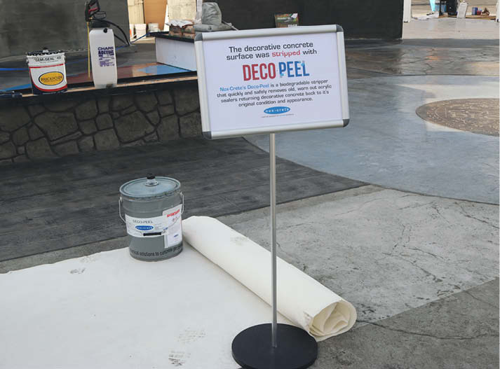 Nox Crete Deco-Peel product applied on a slab at DCL