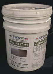 To remove grease and dirt before polishing, try Agua-Cut to help break the surface tension and get to the exposed aggregate in record time.