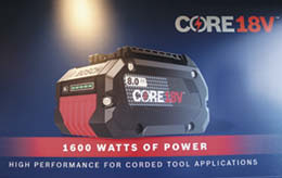 The Core 18V battery from Bosch