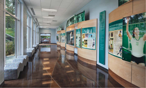 The 60,000-square-foot athletic and wellness building on Harpeth Hall's campus in Nashville is home to a thriv­ing athletic program and facilities de­signed to help girls embody wellness.