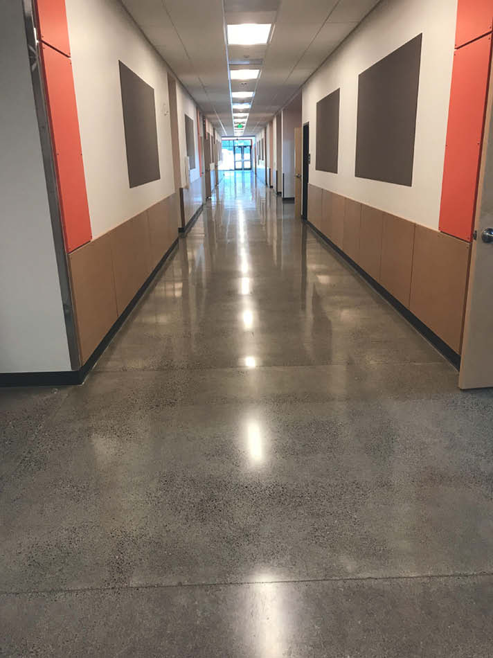 Envirocrete Inc. in Vancouver, Washington, specializes in commercial work where it installs environmentally friendly architectural concrete flooring systems
