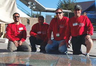 Shawn Halverson and his team of concrete masons.