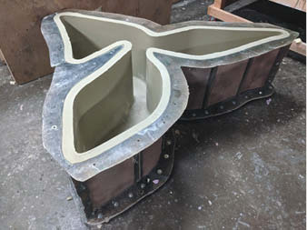 Mold created for the concrete sculpture.