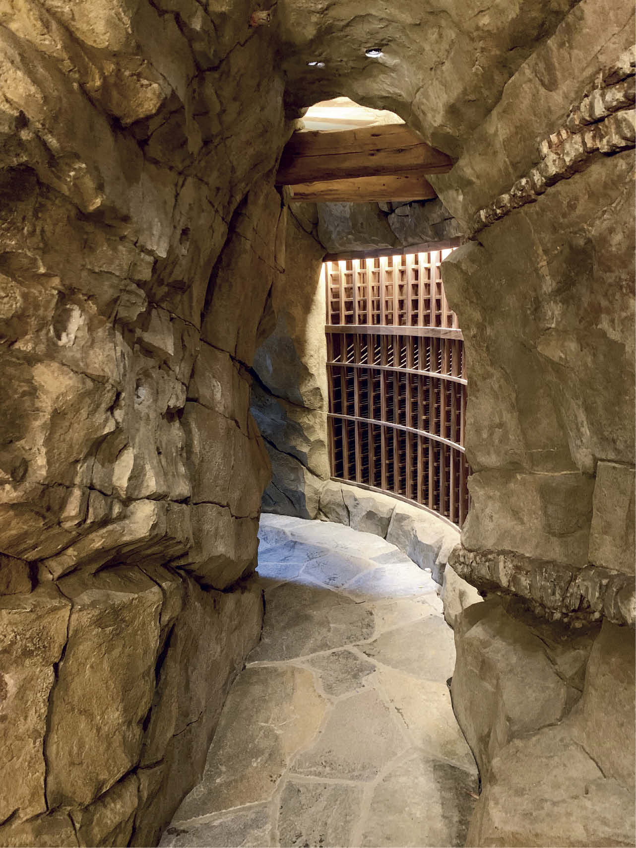 Wine cellars are proving to be a popular use for vertical concrete. An artistic placement of carved concrete can readily emulate the look of cut stone.