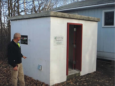 A storm shelter built using Fox Blocks. Photo courtesy of Fox Blocks.
