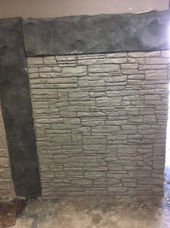 Picture 4: Here's the same wall that's been colored and finished.