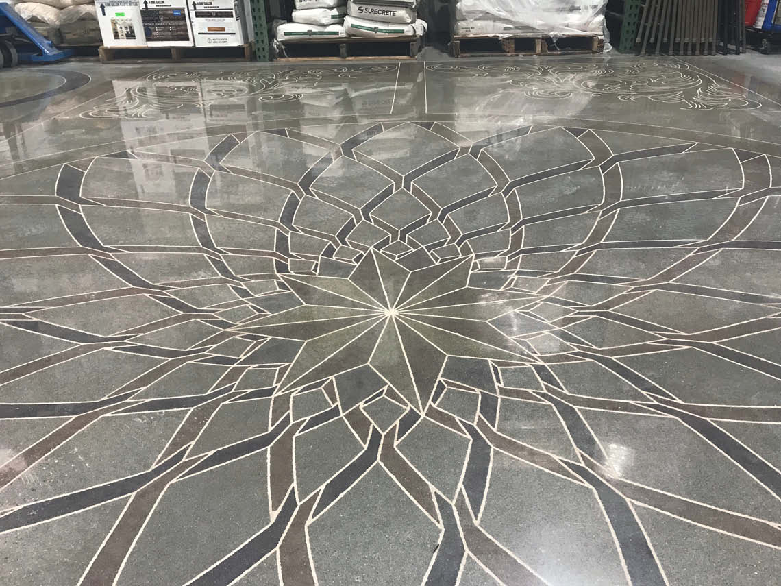 Floor inspired by La Salut in Italy.