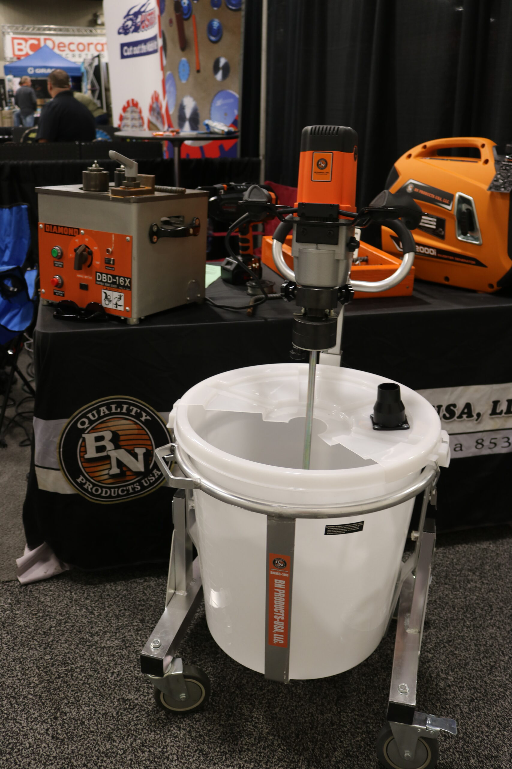 the ultimate mixer combo that can blend up to 220 pounds of self-leveling materials by BN Products USA.