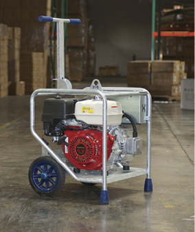 The single- and three-phase portable generators by Makinex Construction weigh less than 350 pounds, making them much easier to maneuver on the job site