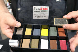 To eliminate human error in color matching, SealBoss Concrete Solutions presented its 6500 CLR Polyurea joint filler that can be colored any shade with a solvent-based stain or dye after it's placed.
