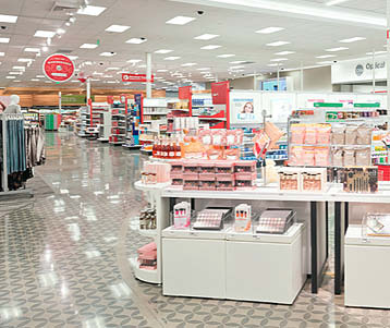 Some big box stores are replacing VCTs with stenciled and polished concrete.