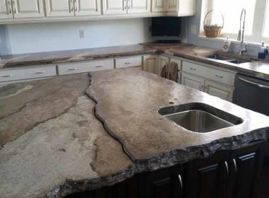 Ashby concrete countertop in a kitchen