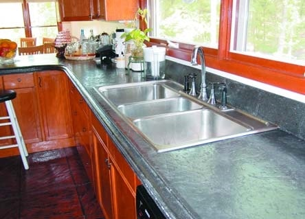 Kitchen with marble look countertops, step by step how to.