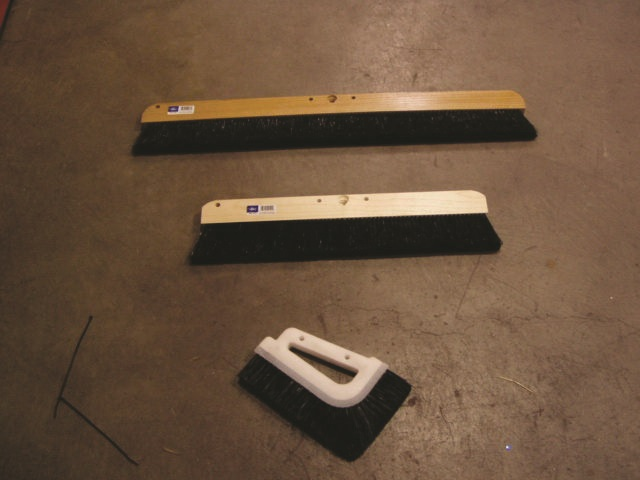 Concrete Brushes can be found in numerous shapes and sizes giving an abundance of brushed concrete options.