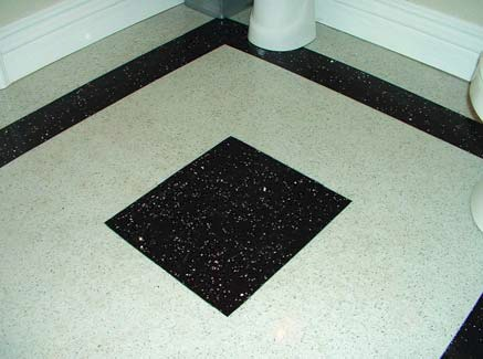 Terrazzo has a ground and polished surface that lends itself to creative design.