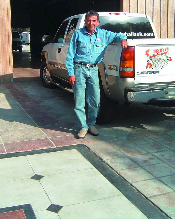 Julio Hallack stands beside his Concrete Innovations truck