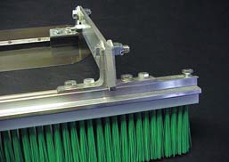 But while brooming is as simple as sweeping, finishing brushes and brooms are not ordinary cleaning brooms. They have unique properties that make them specifically suited for putting a textured finish on a concrete slab.