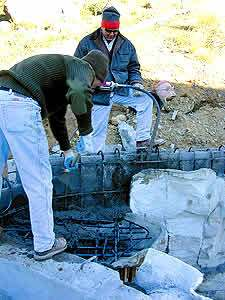 "faux rock concrete pool - When it comes to waterproofers, the choice is between a cementitious coating and a rubber-plastic hybrid gel that leaves a plastic surface and bridges gaps, he says. ""Personally, I like to use Eurostone deck coating over the top because it's white."