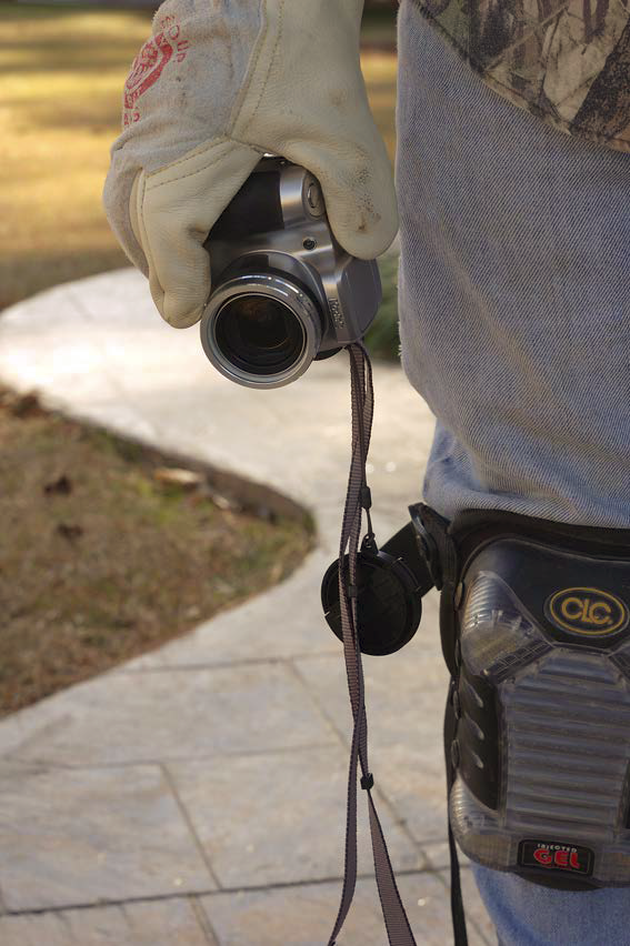 Keeping your camera on the jobsite in an easy to access place