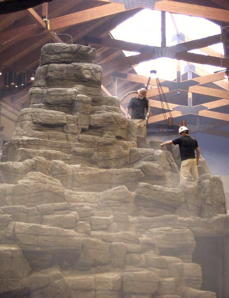 A rock mountain feature in Cabela's sporting goods store in Hazelwood, Mo.