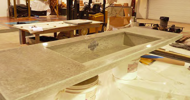 concrete countertop and sink by preitech