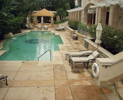 Pool deck before restoration.