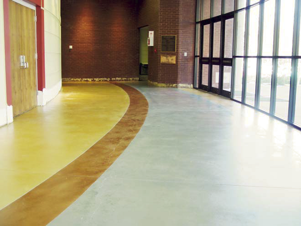 Three colors of Lithochrome Tintura Stain, an environmentally friendly water-based stain from L.M. Scofield Co., were used at Holy Innocents' Episcopal School in Georgia.